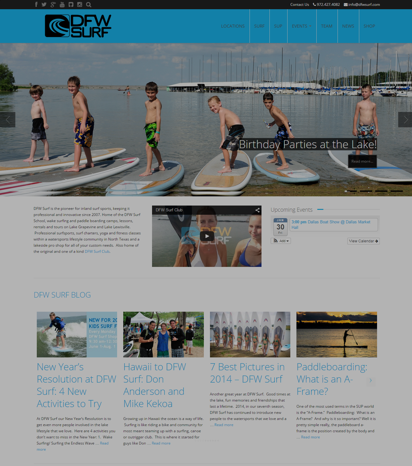 DFW Surf website