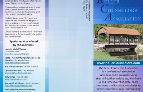 Keller Counselors Association brochure