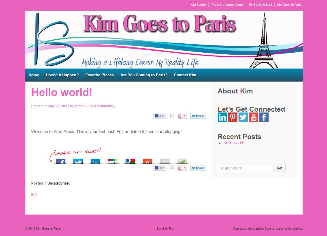 Kim Goes to Paris