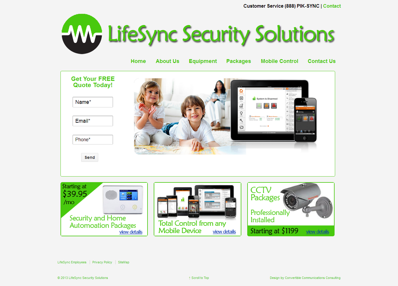 LifeSync Security Solutions website