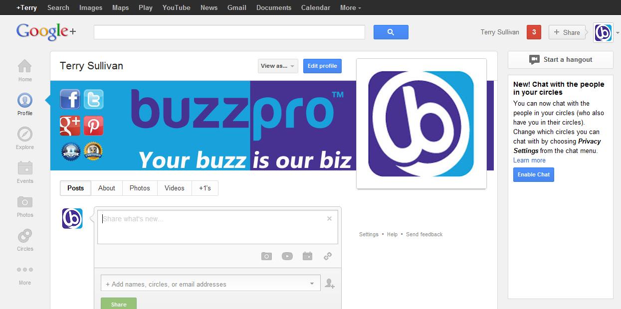 buzzpro google+ graphic