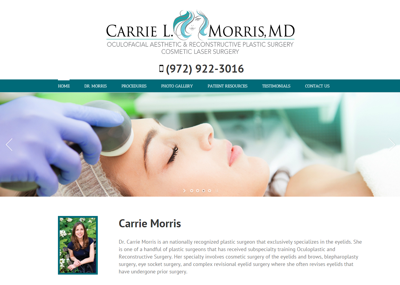 carrie morris website design