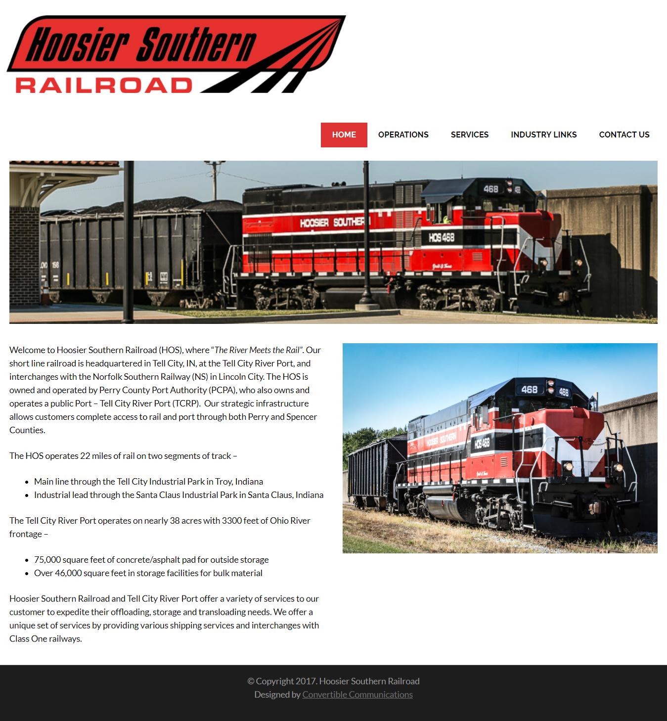 Hoosier Southern Railroad Website