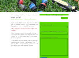 Install My Own Sprinkler System Website