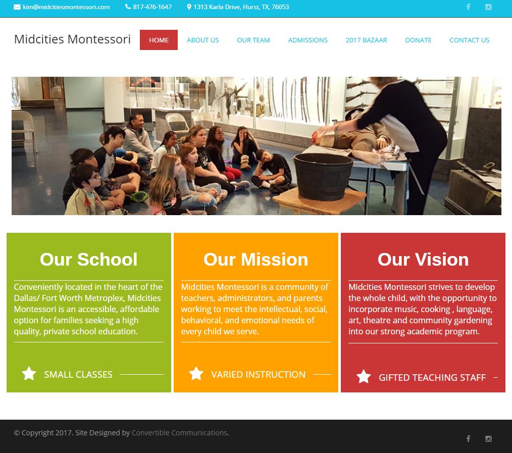 Midcities Montessori Website