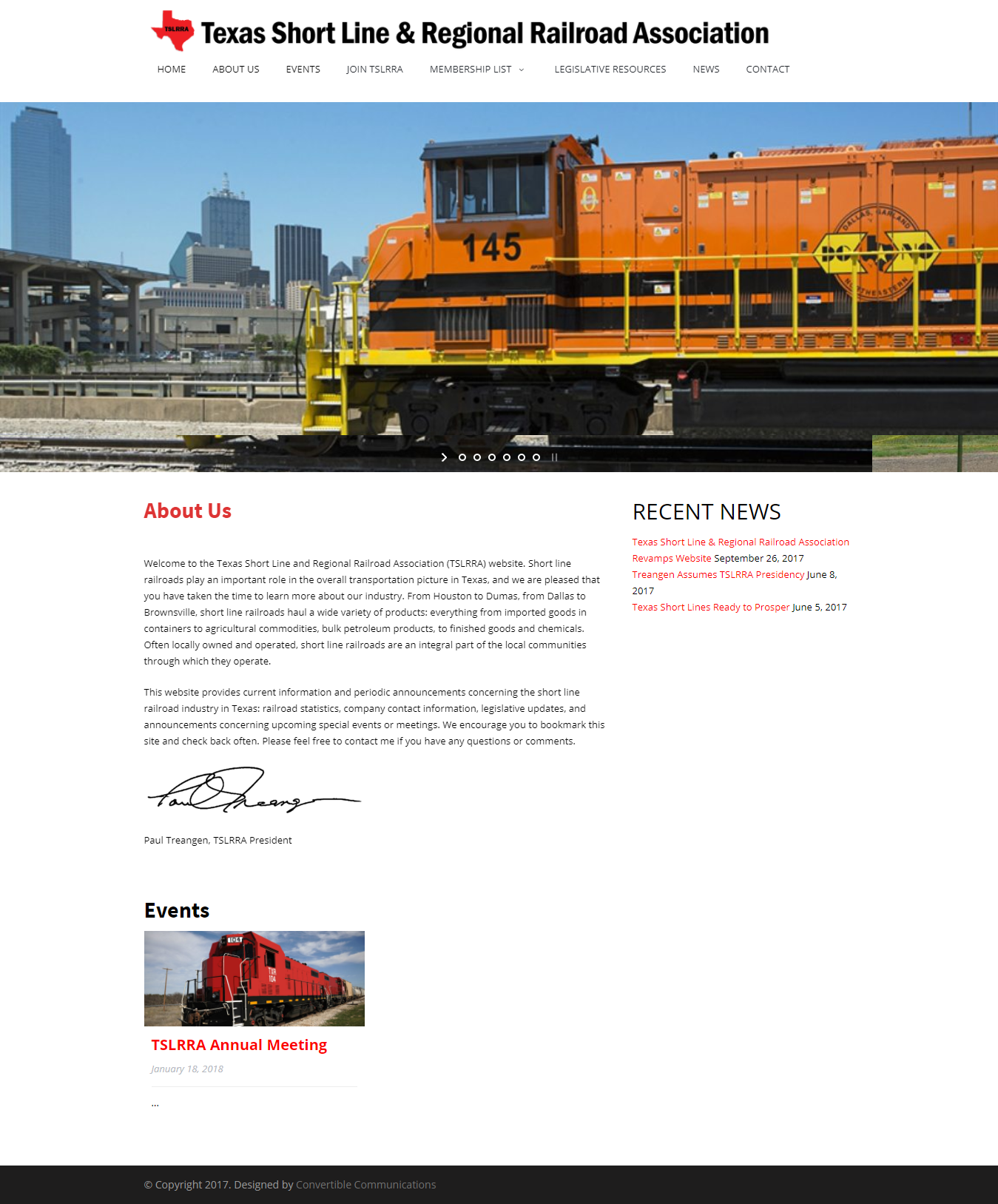 Texas Short Line Rail Road Association Website